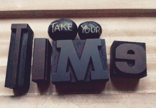 Take your time_typo_klein