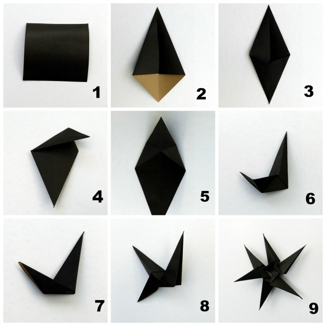Origami Stern Collage
