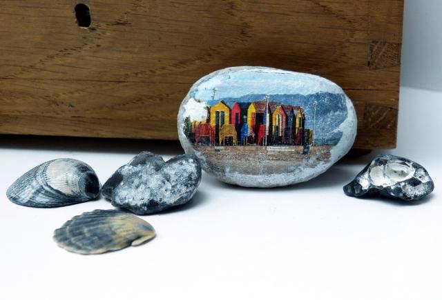 Urlaubsfotos Transfer auf Stein