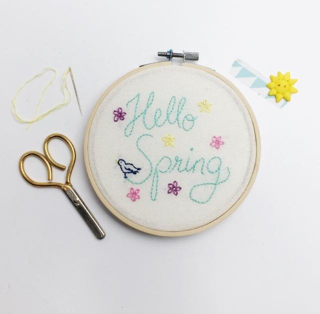 Stickbild Hello Spring1_klein