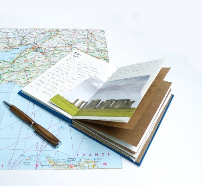 Reisetagebuch schreiben_kleben